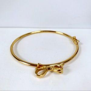 Kate Spade Gold Tone Bow Bracelet